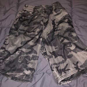 Youth Mens- Gray Athletic Works Camo Shorts